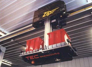 Comprar HIGH SPEED OVERHEAD MONORAIL SYSTEM TO PROVIDE UNATTENDED PRODUCT HANDLING