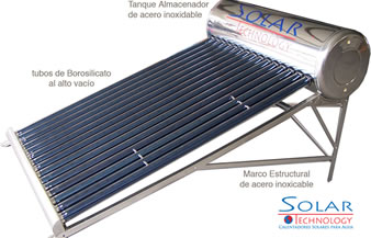Plants solar water-heating