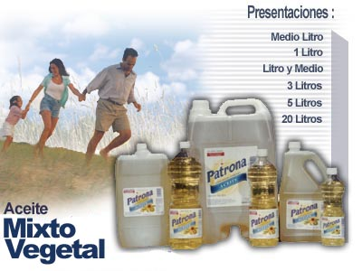 Aceite mixto vegetal.