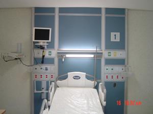 Sistema de pared hospitalaria para terapia intensiva