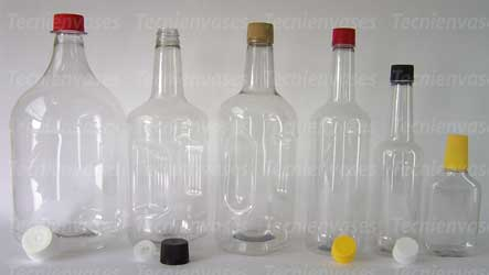 Botellas y tapas para licor
