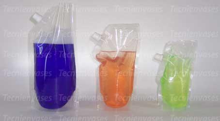 Bolsas laminadas con fuelle para líquidos