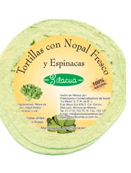 Comprar Tortillas con Nopal Fresco y Espinacas