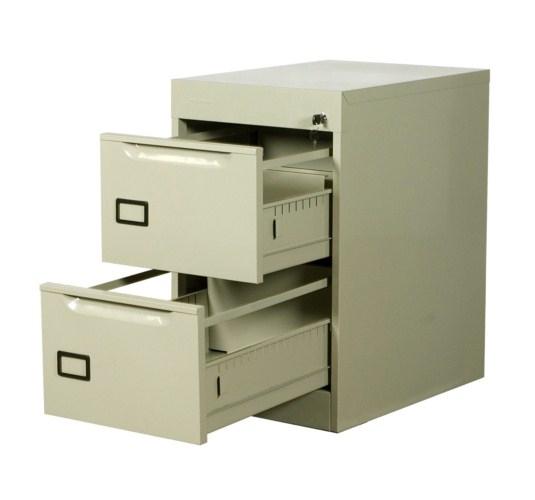 Comprar Archivero metálico vertical de 2 gavetas