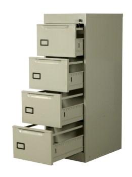 Comprar Archivero metálico vertical de 4 gavetas
