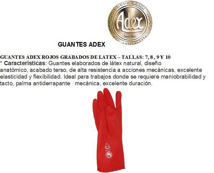 Comprar GUANTES ADEX