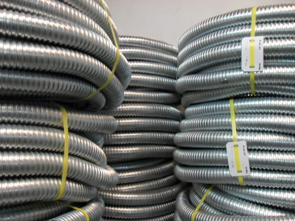 Comprar Tubo metalico flexible, Tubo Flexible, Tubo Plica, Liquid Tight, Tubo metalico flexible cubierto de pvc