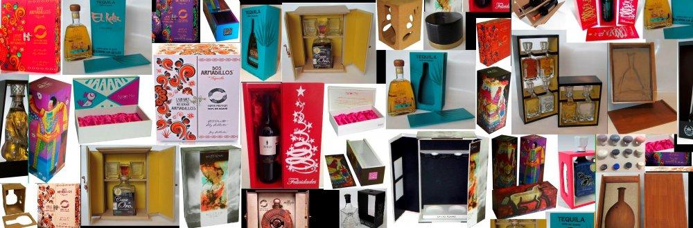 Comprar Estuches de madera y MDF, tapones de corcho natural y sintetico y botellas de vidrio
