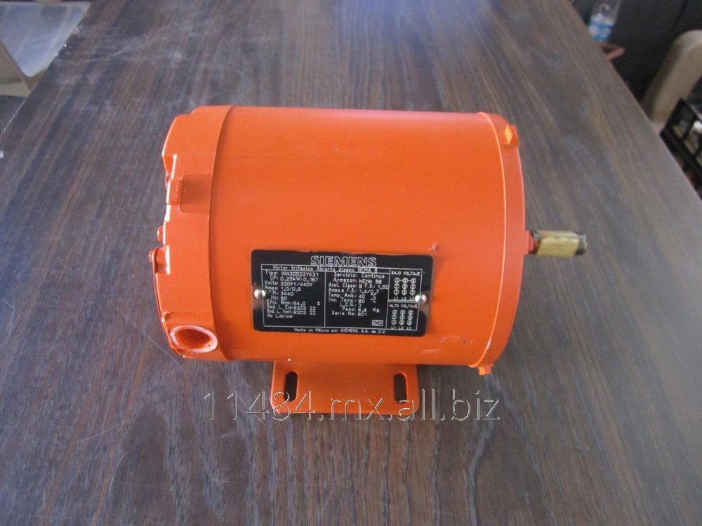 Comprar Motor eléctrico de 1/4 hp, 3,440 rpm, trifásico, sin brida