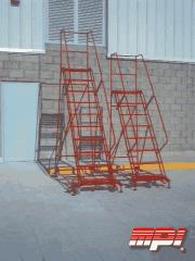 Escaleras rodante de fierro tubular con