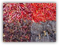 Chiles secos.