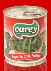 Rajas de chili poblano