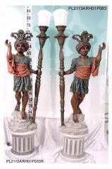 Lampara Africano con  Pedestal