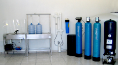 Systems for house water treatment, centralized