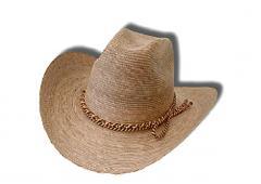 Sombrero para caballero, color tostado natural
