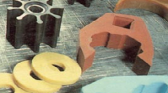 Rubber articles, injection molding and compression
