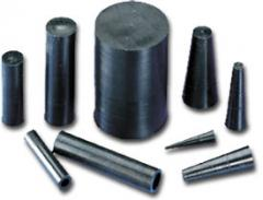 Articles molded of silicone natural rubber,