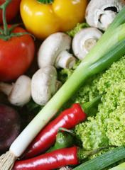 Vegetales y chiles deshidratados