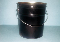 Buckets made of ferrous metals and tin