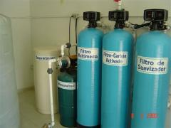 Installations of a filtration