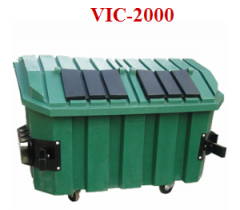 Containers made of polyethylene, plastics, rubber