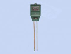 Medidor de humedad y pH en tierra