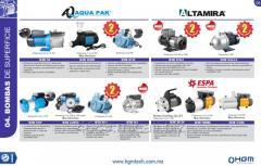 Sistemas y equipos para suministro de agua