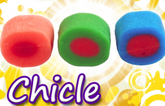 Chicle co-extruido doble sabor