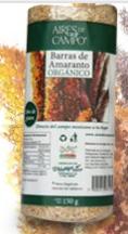 Barras de Amaranto Orgánico