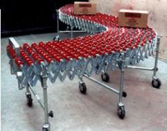 Transportador flexible de rodaja tipo patin