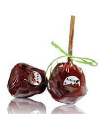 Manzana cubierta con caramelo
