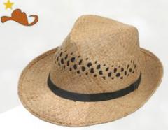 Sombrero de rafia natural