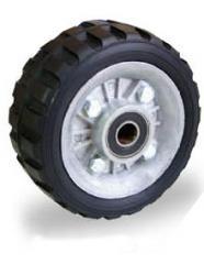 Ruedas de hule tipo tractor con ring de aluminio