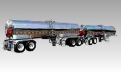 Tanque cilíndrico para el transporte de leche