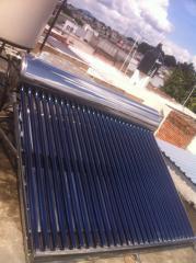 Calentador solar tubos al vacio acero inoxidable