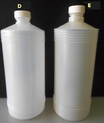 Botella alcoholera de 1 lt 1/2 lt y 1/4 lt