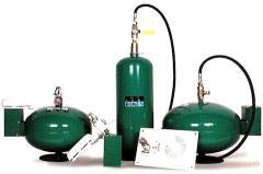 Granadas contra incendios, extintores automáticos