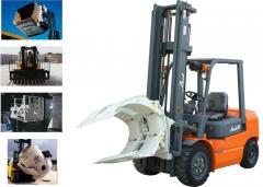 Aditamentos hidráulicos para manejo de materiales