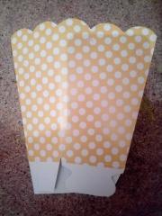 Caja de cartón para palomitas