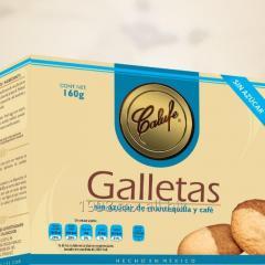 Galletas de mantequilla y café sin azúcar