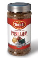 Sazonadores TONE'S® :  Chile Con Limón 738 gr.  Canela Molida 511 gr.  Mezcla para Salsa Dorada 681 gr.  Aderezo para Espagueti 397 gr.  Sazonador de Ajo y Hierbas 567 gr.