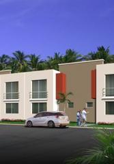 Apartment houses, brick