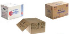 Package made of cardboard