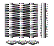 Compound corrugated grid