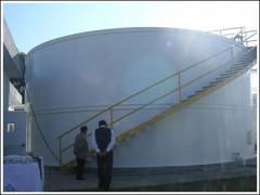 Equipment for sewage treatment, milk plants