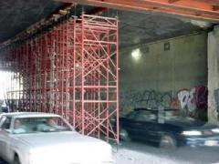Modular framework towers installation outfit