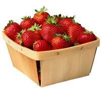 Frutas congeladas.Fresa.