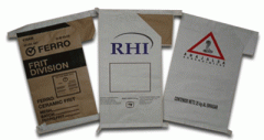 Packets made of paper with firm symbolics