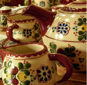 Products from ceramics and porcelain household and
