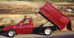 Dust-carts, communal motor-vehicle